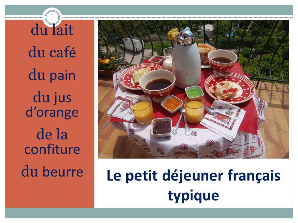 Le petit déjeuner français typique