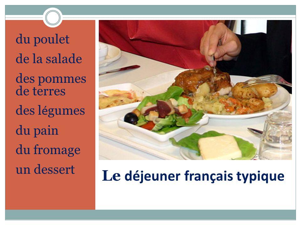 Le déjeuner français typique