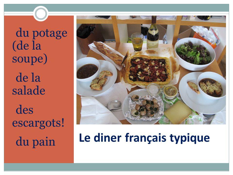 Le diner français typique