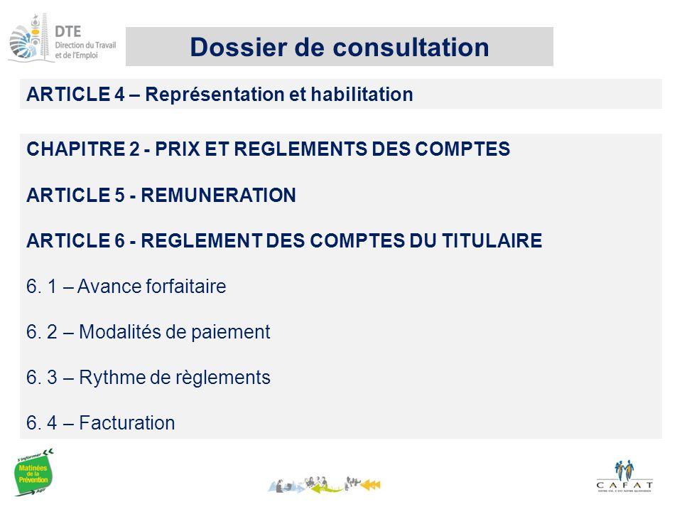 Dossier de consultation