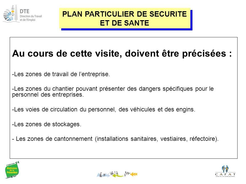 PLAN PARTICULIER DE SECURITE ET DE SANTE