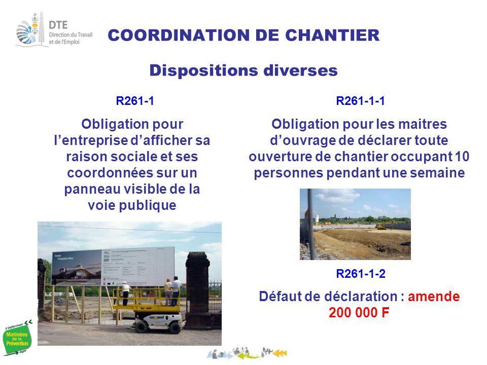 COORDINATION DE CHANTIER
