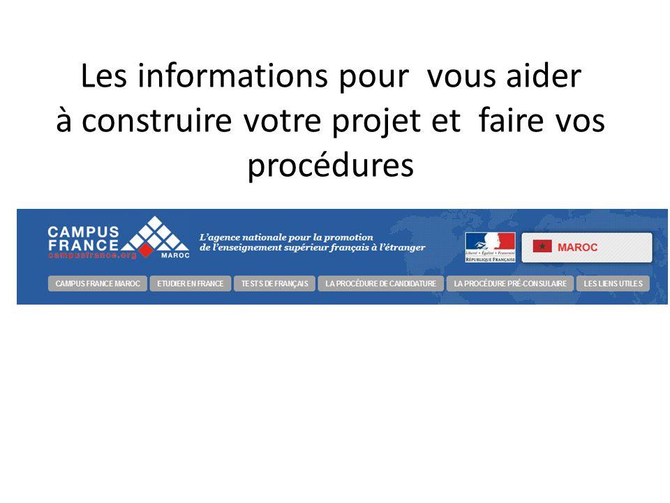 Les informations pour vous aider à construire votre projet et faire vos procédures