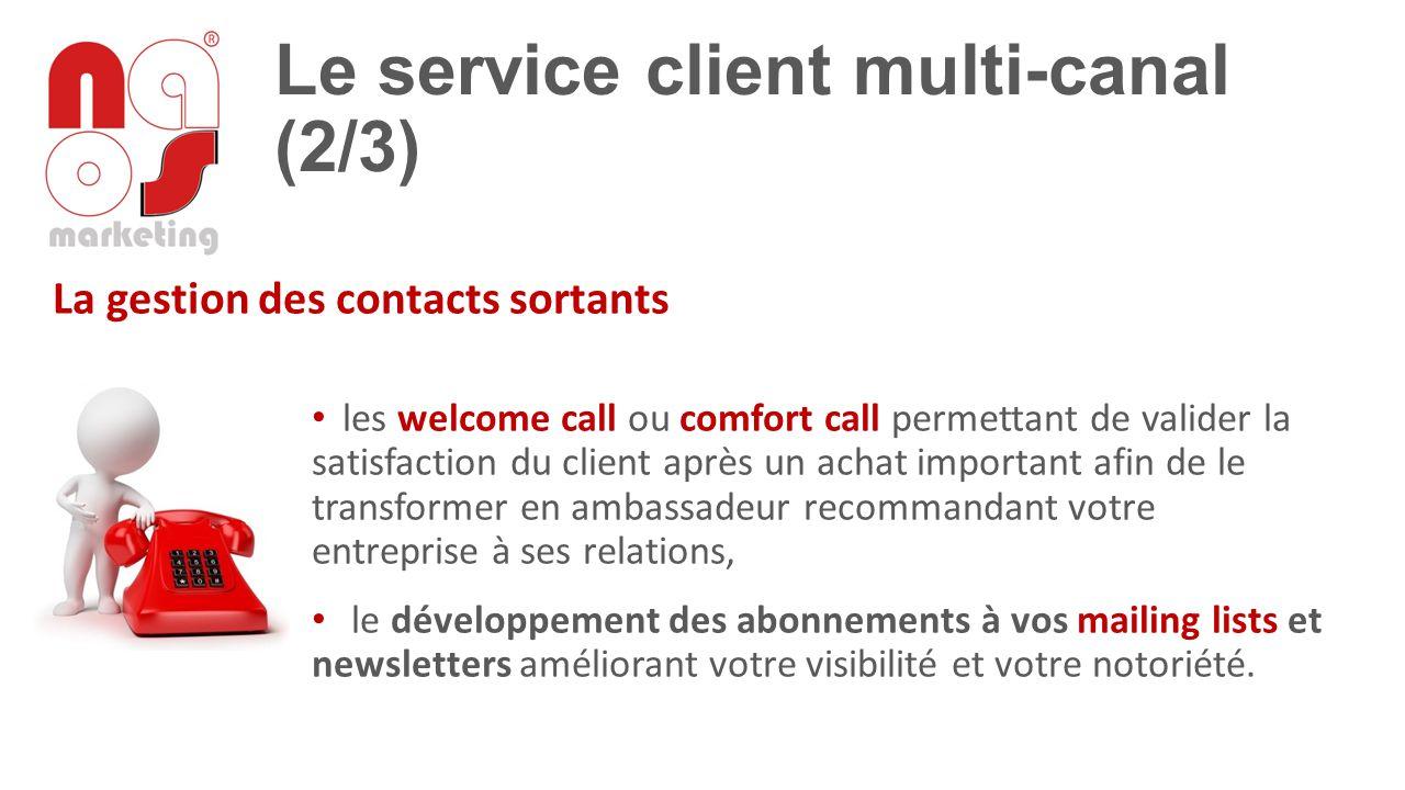Le service client multi-canal (2/3)