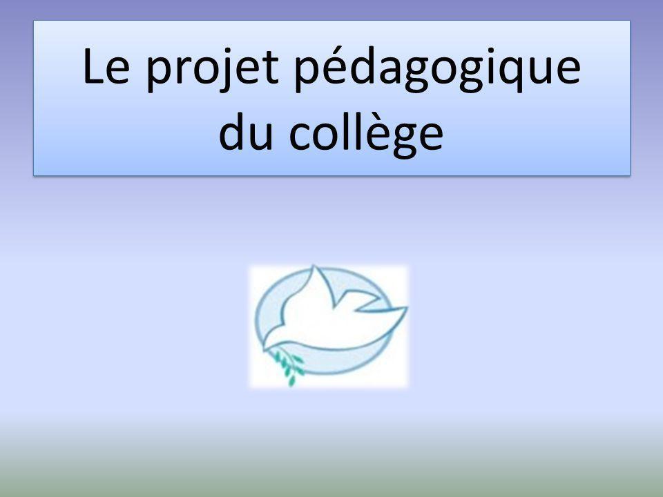 Le projet pédagogique du collège