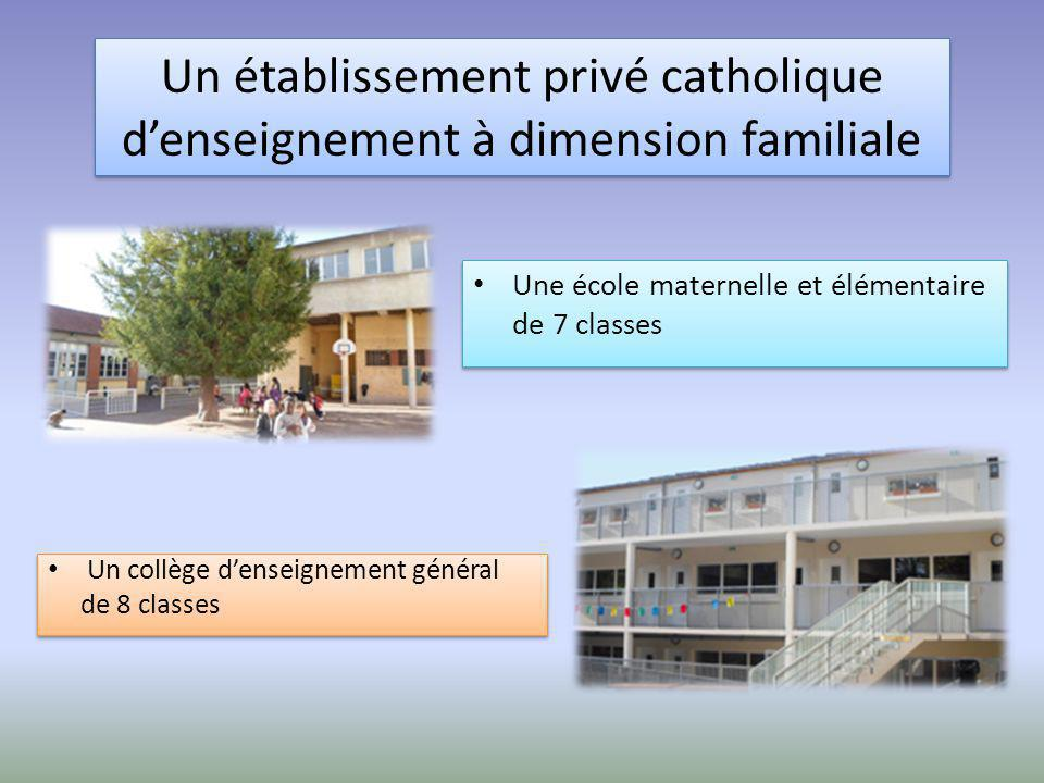 Un établissement privé catholique d'enseignement à dimension familiale