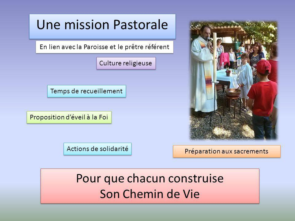 Une mission Pastorale Pour que chacun construise Son Chemin de Vie