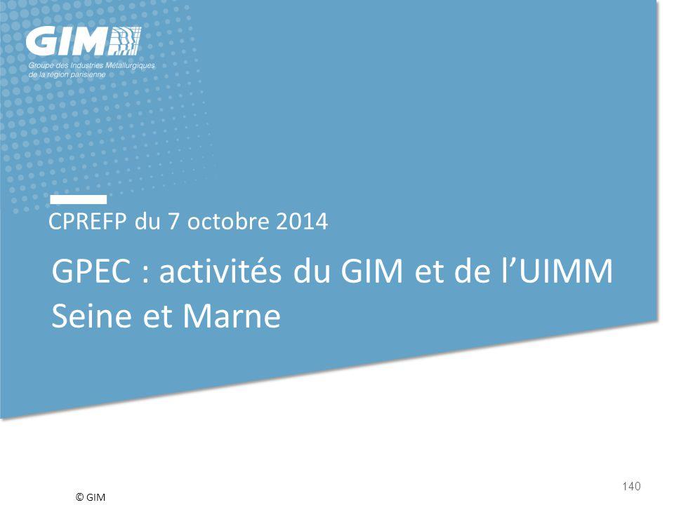 GPEC : activités du GIM et de l'UIMM Seine et Marne