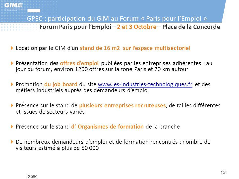 GPEC : participation du GIM au Forum « Paris pour l'Emploi »