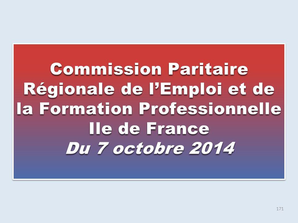 Commission Paritaire Régionale de l'Emploi et de la Formation Professionnelle Ile de France