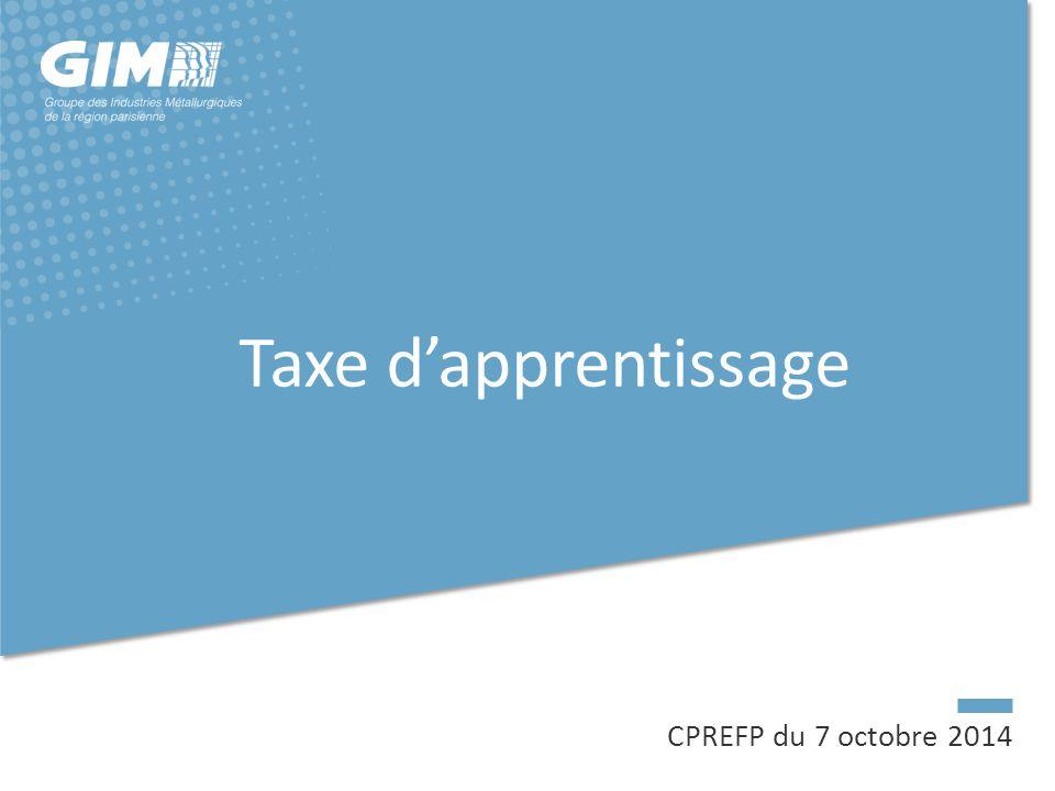 Taxe d'apprentissage CPREFP du 7 octobre 2014