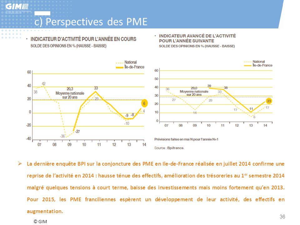 c) Perspectives des PME