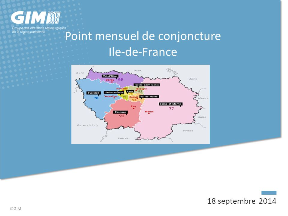 Point mensuel de conjoncture Ile-de-France