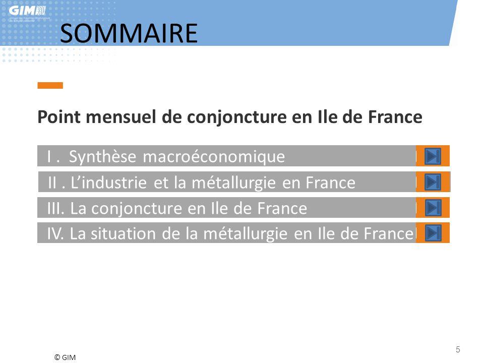 SOMMAIRE Point mensuel de conjoncture en Ile de France