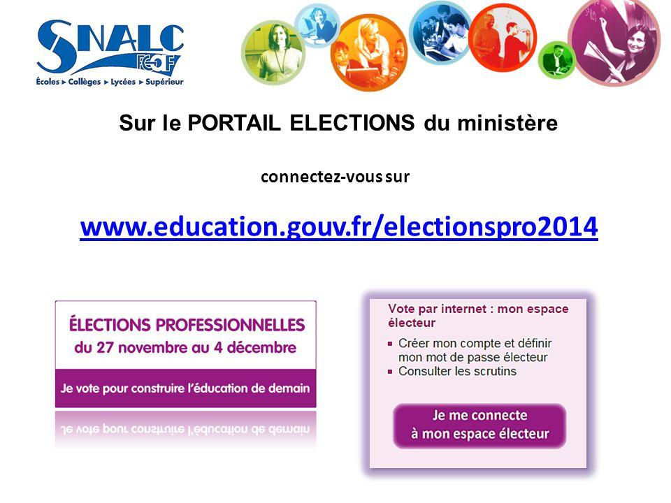 Sur le PORTAIL ELECTIONS du ministère