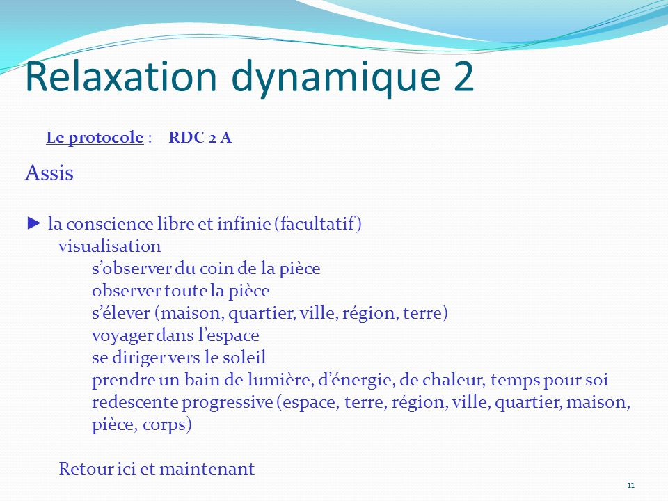 Relaxation dynamique 2 Assis