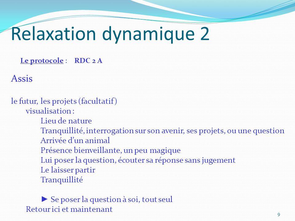 Relaxation dynamique 2 Assis le futur, les projets (facultatif)