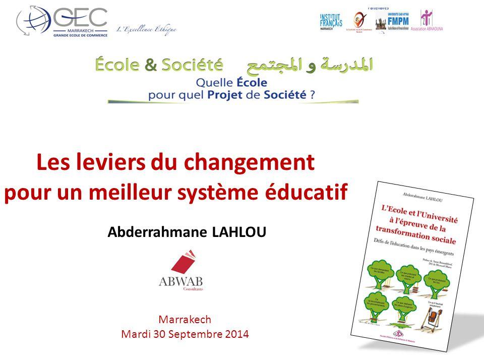 Les leviers du changement pour un meilleur système éducatif
