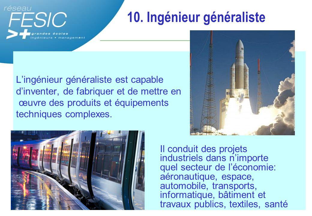 10. Ingénieur généraliste