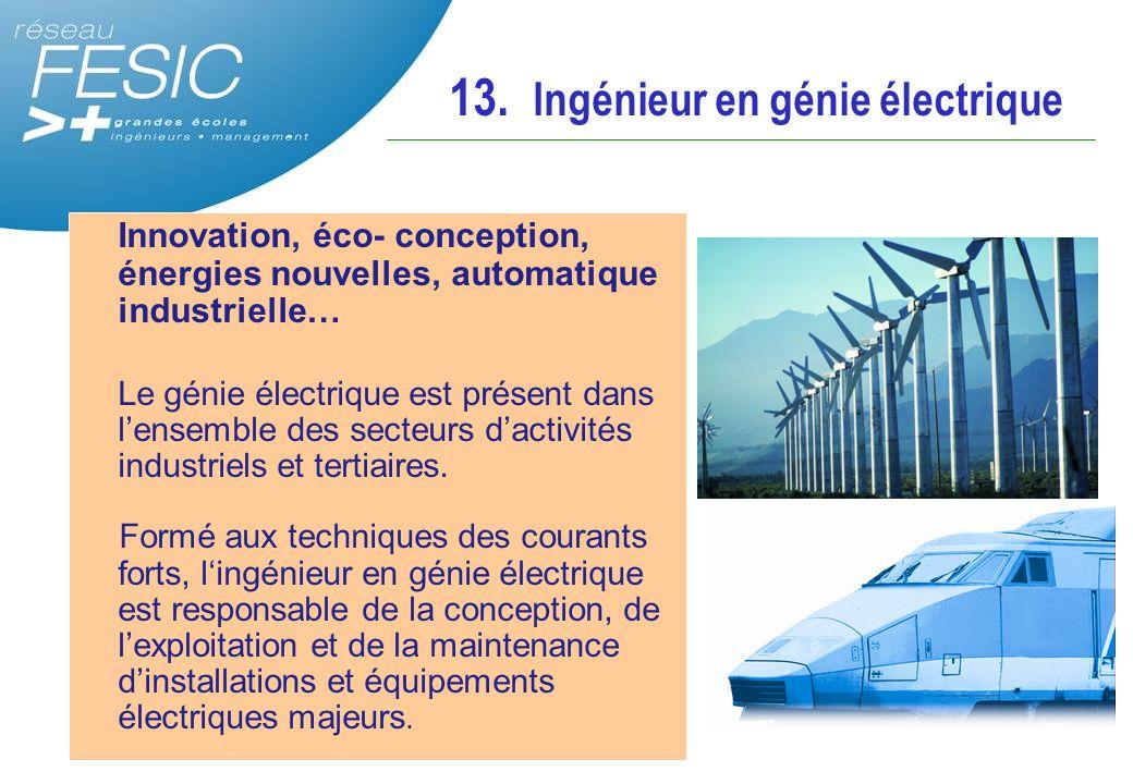 13. Ingénieur en génie électrique