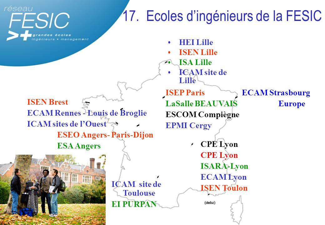 17. Ecoles d'ingénieurs de la FESIC