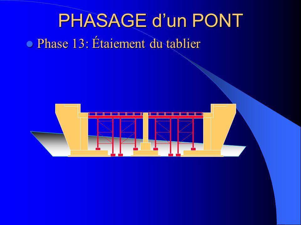 PHASAGE d'un PONT Phase 13: Étaiement du tablier