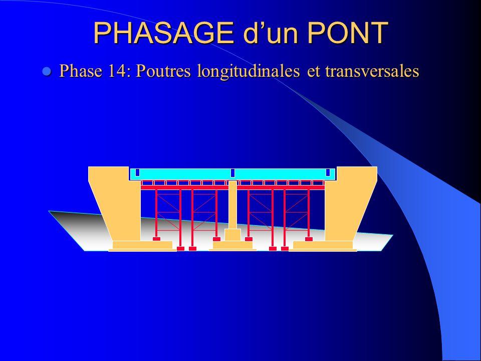 PHASAGE d'un PONT Phase 14: Poutres longitudinales et transversales