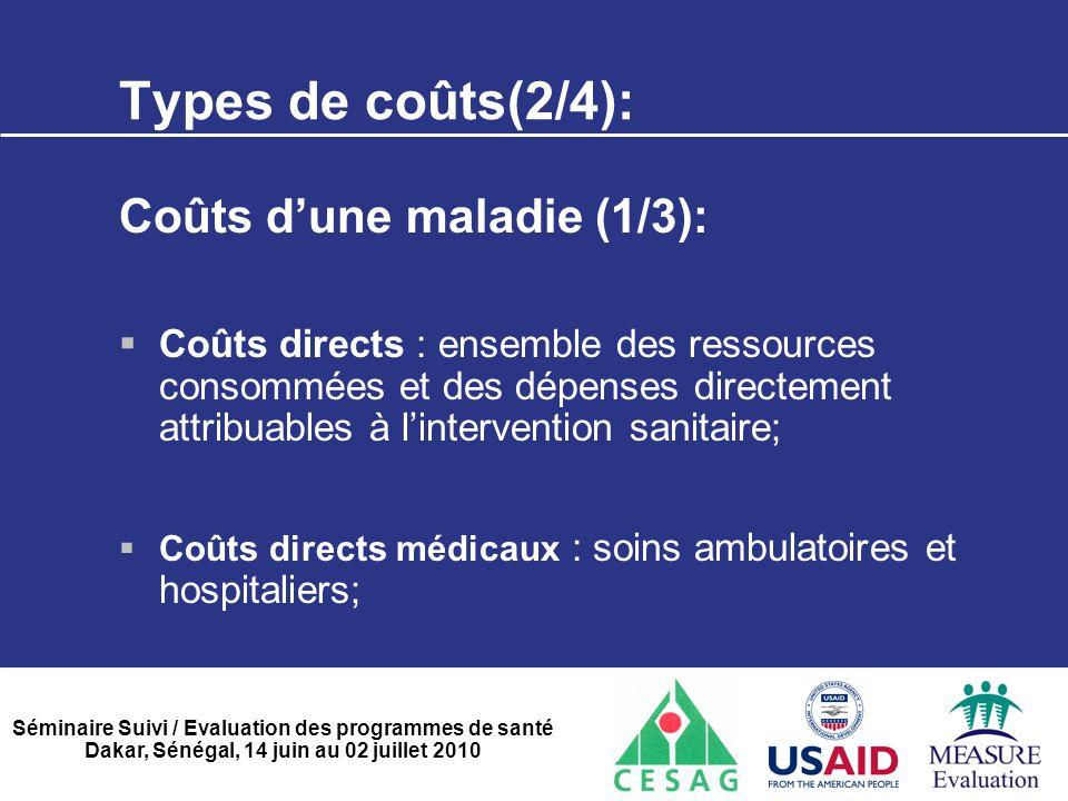 Types de coûts(2/4): Coûts d'une maladie (1/3):