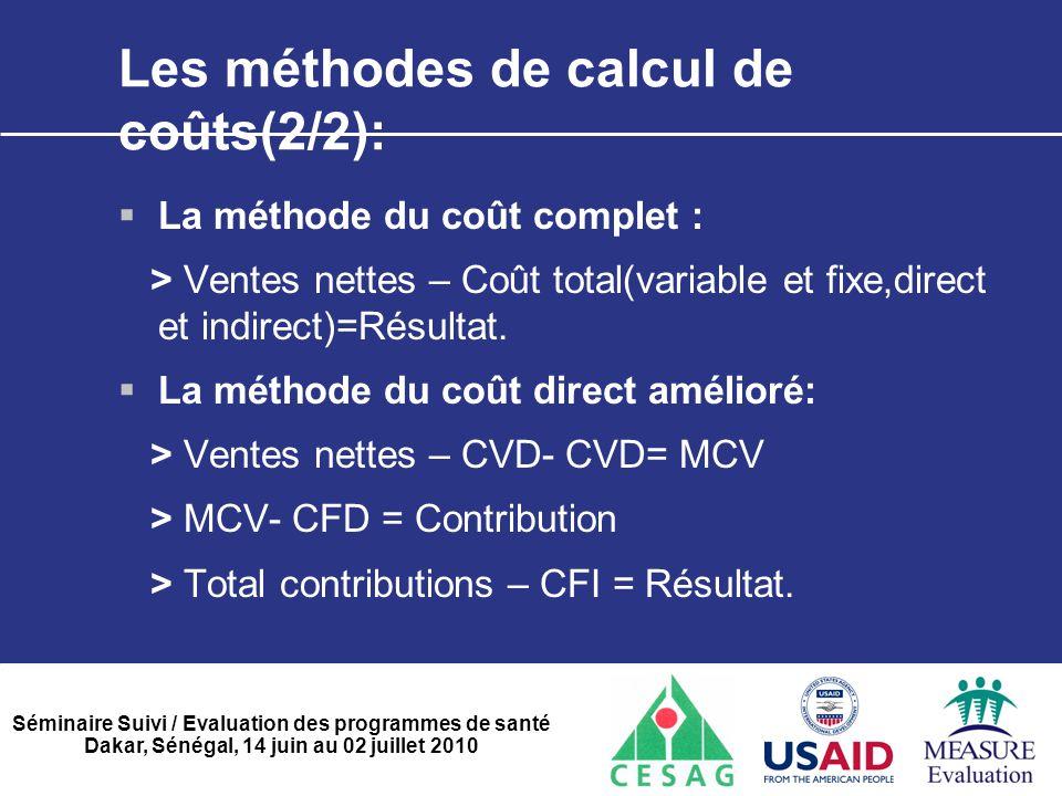 Les méthodes de calcul de coûts(2/2):