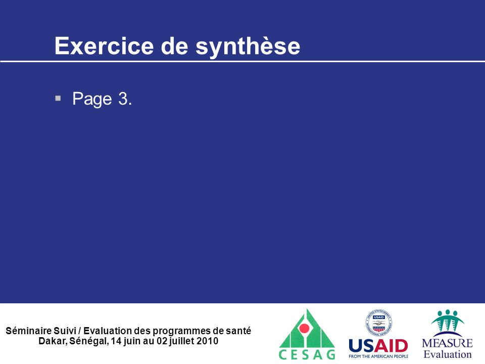 Exercice de synthèse Page 3.