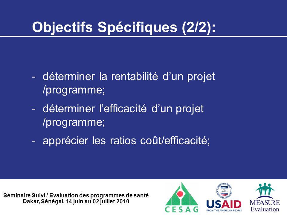 Objectifs Spécifiques (2/2):