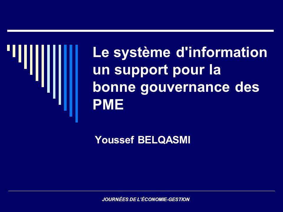 Le système d information un support pour la bonne gouvernance des PME