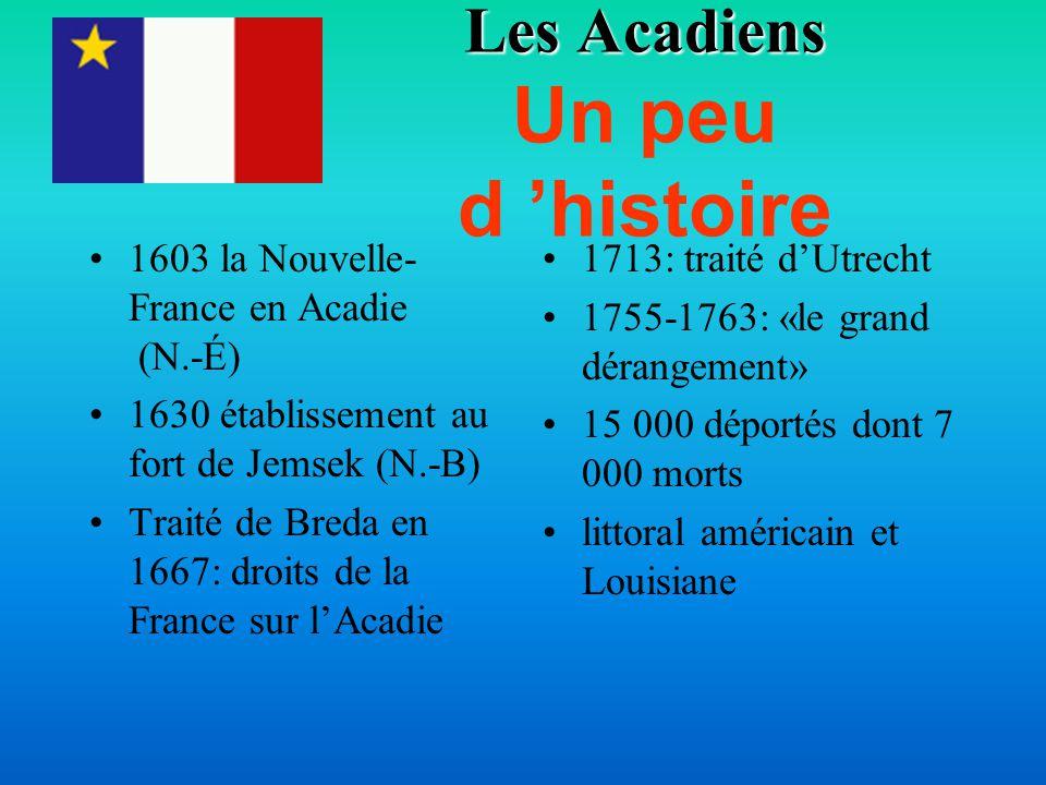 Les Acadiens Un peu d 'histoire