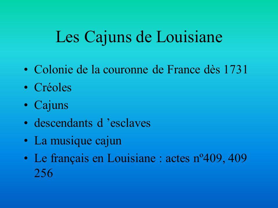 Les Cajuns de Louisiane