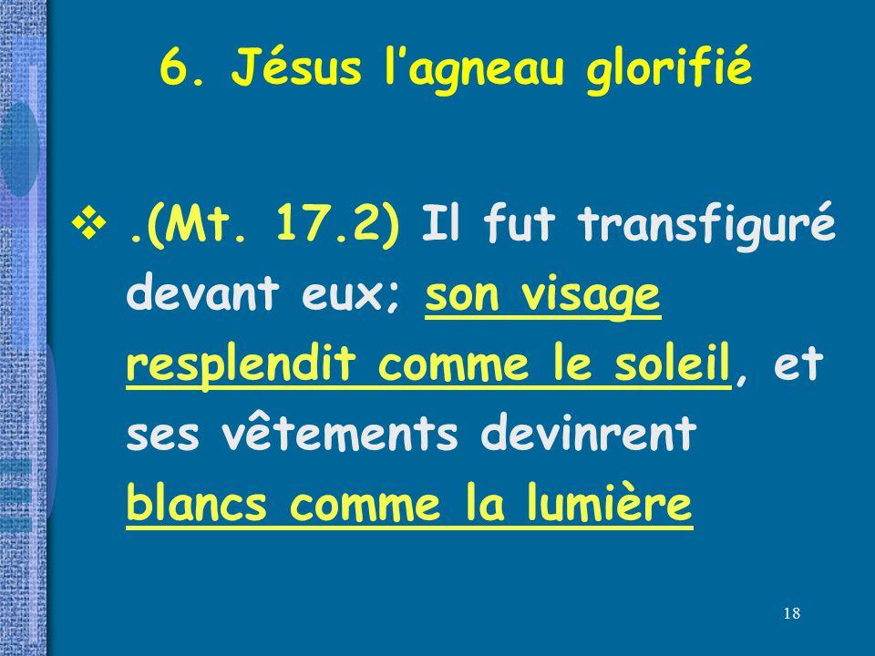 6. Jésus l'agneau glorifié