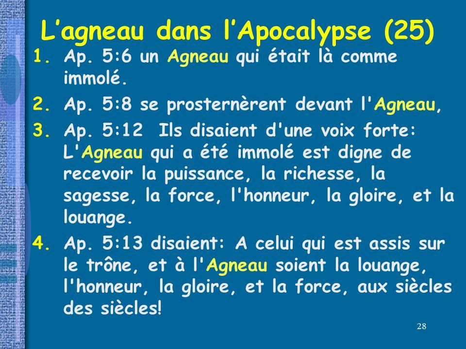 L'agneau dans l'Apocalypse (25)