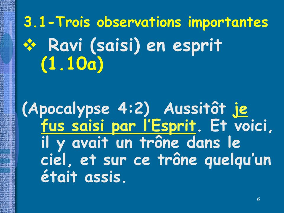 3.1-Trois observations importantes