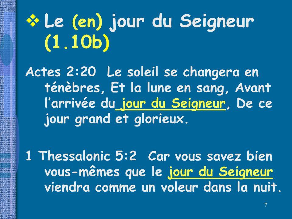 Le (en) jour du Seigneur (1.10b)
