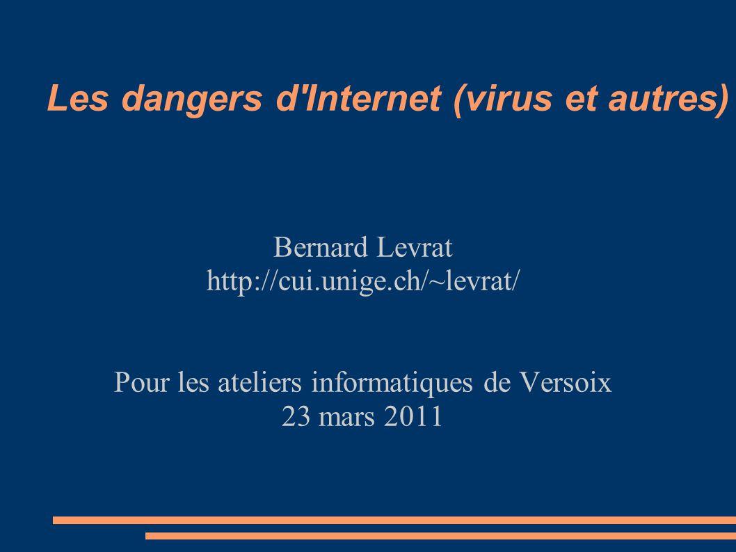 Les dangers d Internet (virus et autres)