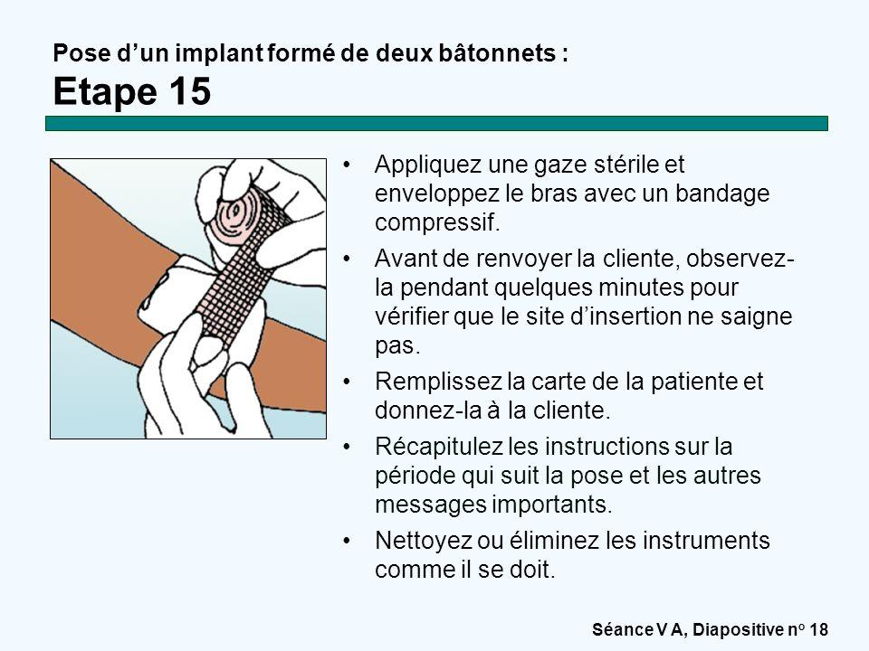 Pose d'un implant formé de deux bâtonnets : Etape 15