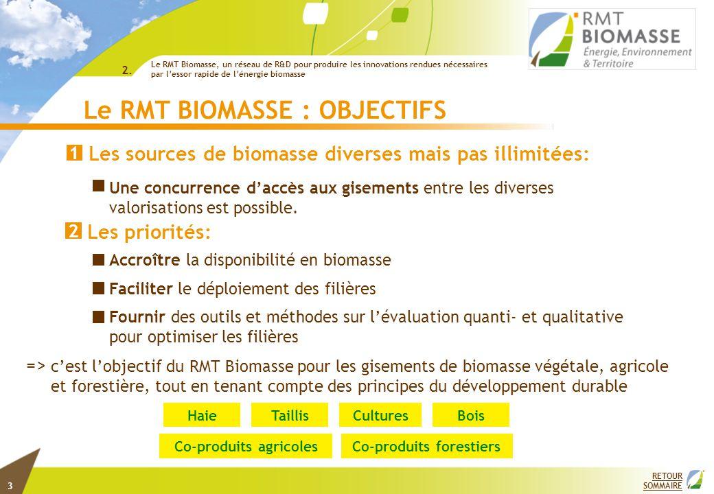 Le RMT BIOMASSE : UN RESEAU DE COMPETENCES COMPLEMENTAIRES