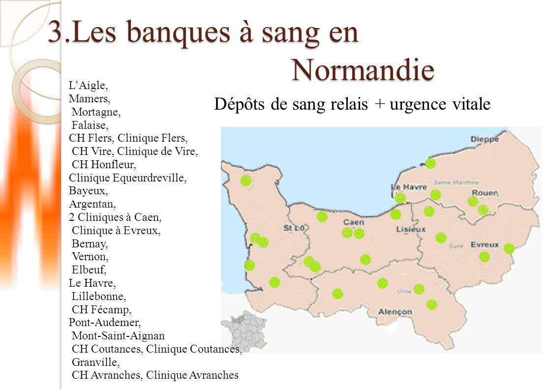 3.Les banques à sang en Normandie