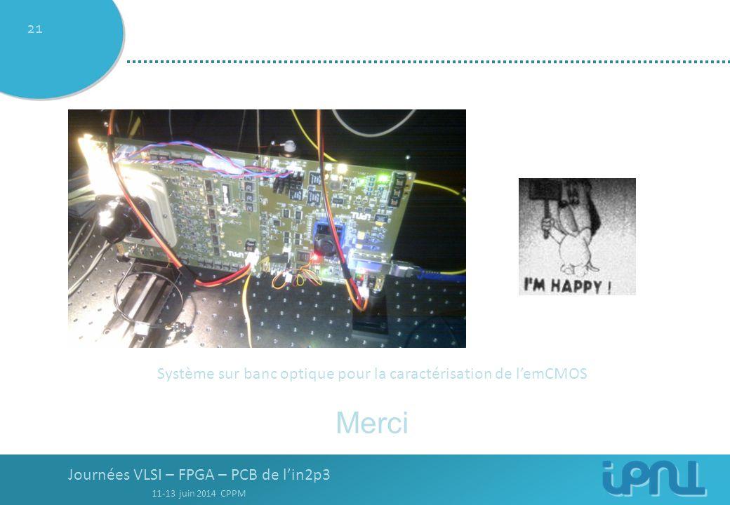 Système sur banc optique pour la caractérisation de l'emCMOS