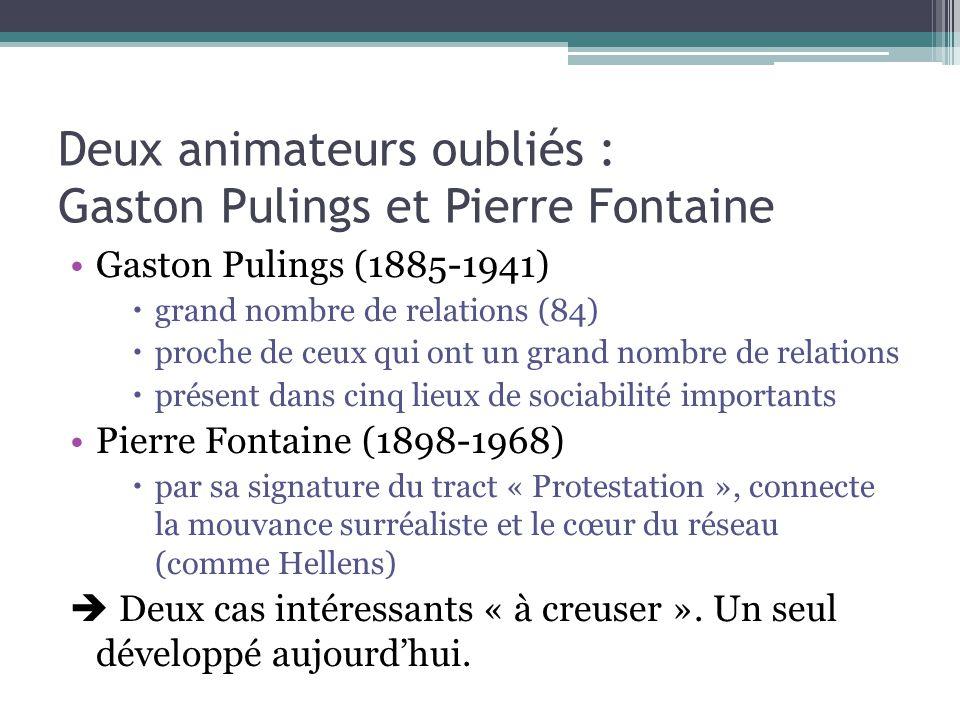 Deux animateurs oubliés : Gaston Pulings et Pierre Fontaine