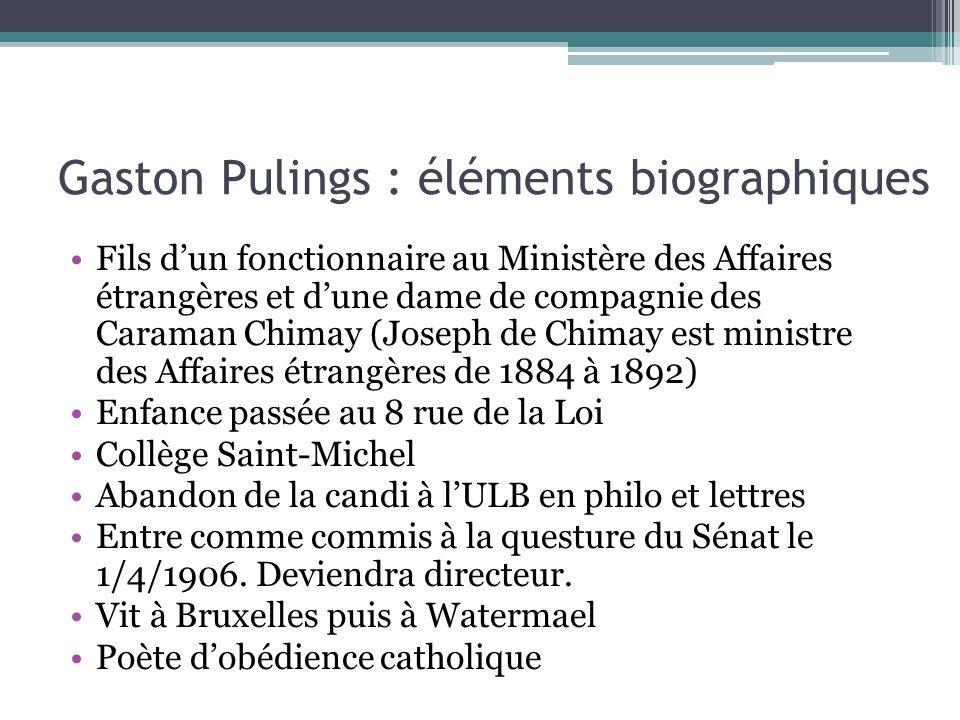 Gaston Pulings : éléments biographiques