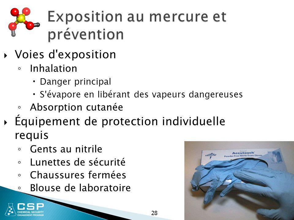 Exposition au mercure et prévention