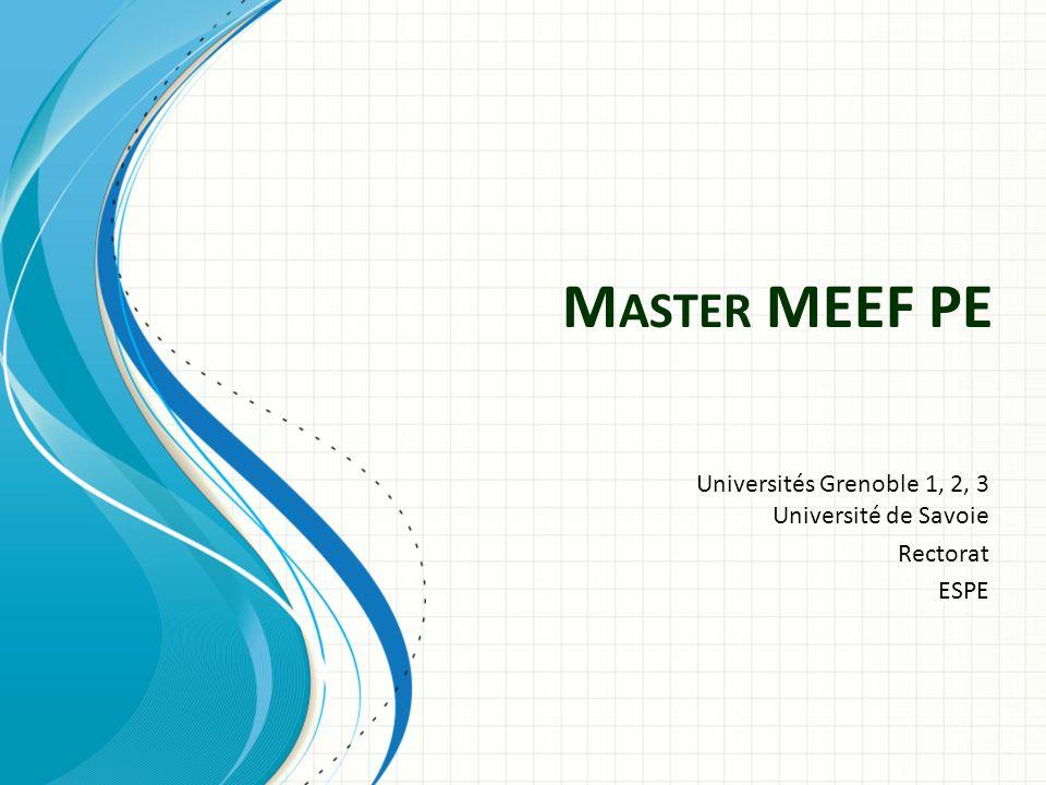 Universités Grenoble 1, 2, 3 Université de Savoie Rectorat ESPE