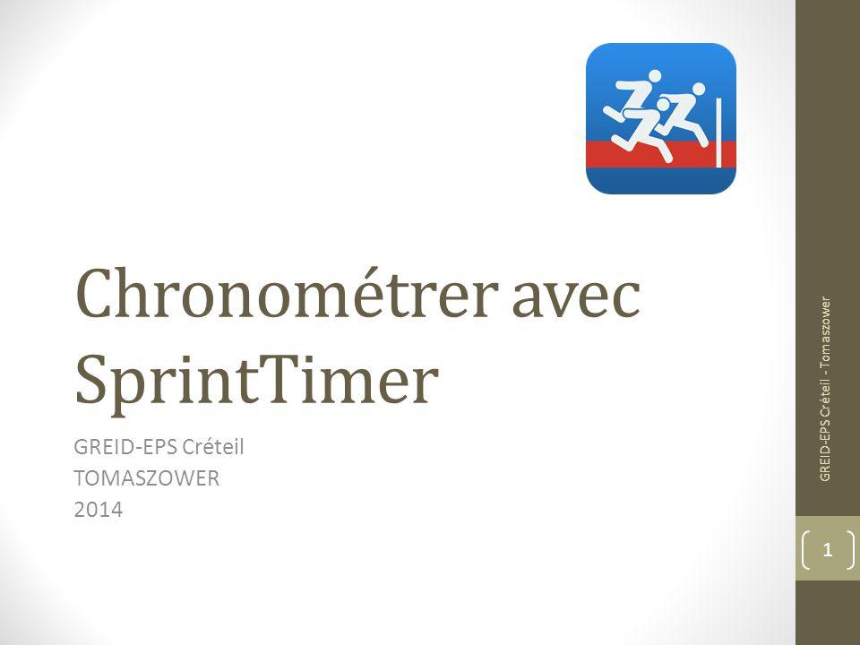 Chronométrer avec SprintTimer