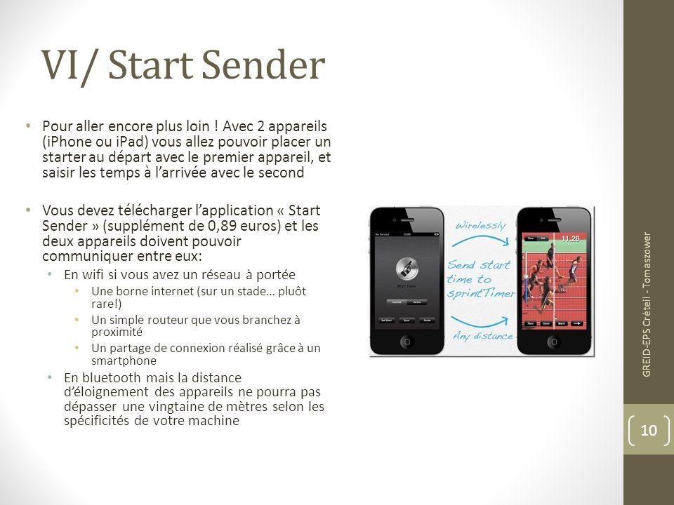 VI/ Start Sender