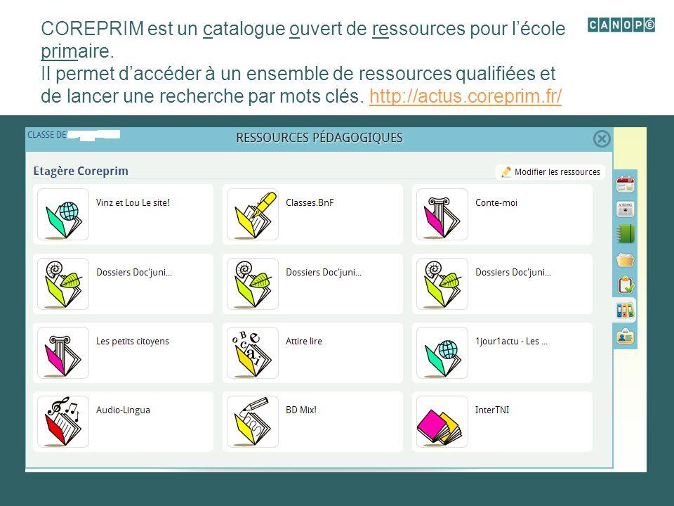 COREPRIM est un catalogue ouvert de ressources pour l'école primaire